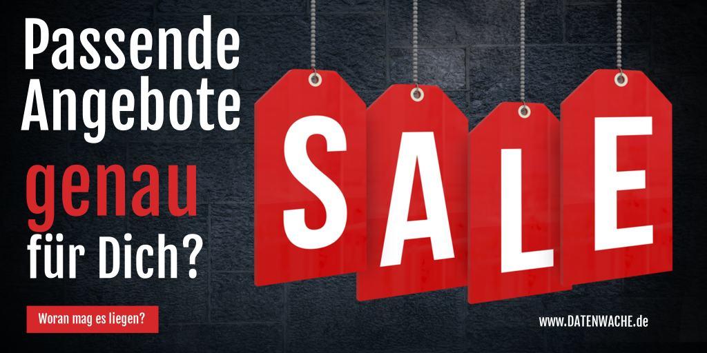 Angebotsschild - Text Sale Werbung blockieren