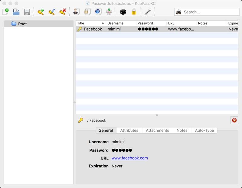 PasswortverwaltungKeePassXC Beipielansicht