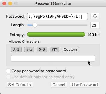 Wie sicher ist mein Passwort? Passwortmaanger Beispiel