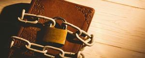 2fa 2 Faktor Authentifizierung schützt Benutzerkonten: Tagebuch mit Schloss